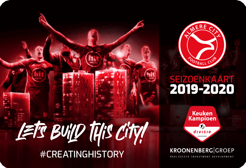 'Let's build this City!': seizoenkaartcampagne van start