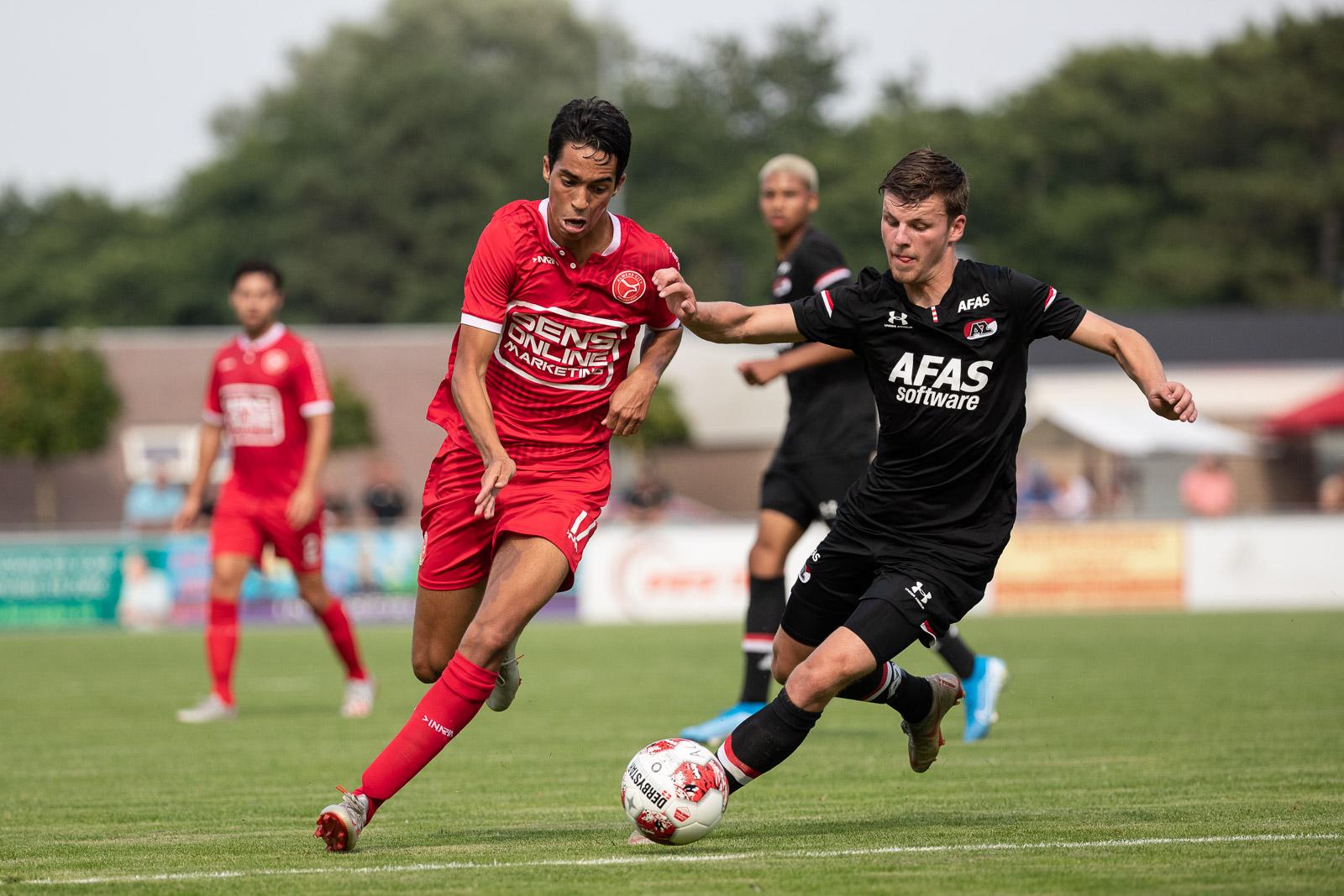Zaterdag laatste oefenwedstrijd hoofdmacht, Jong tegen Team Flevoland