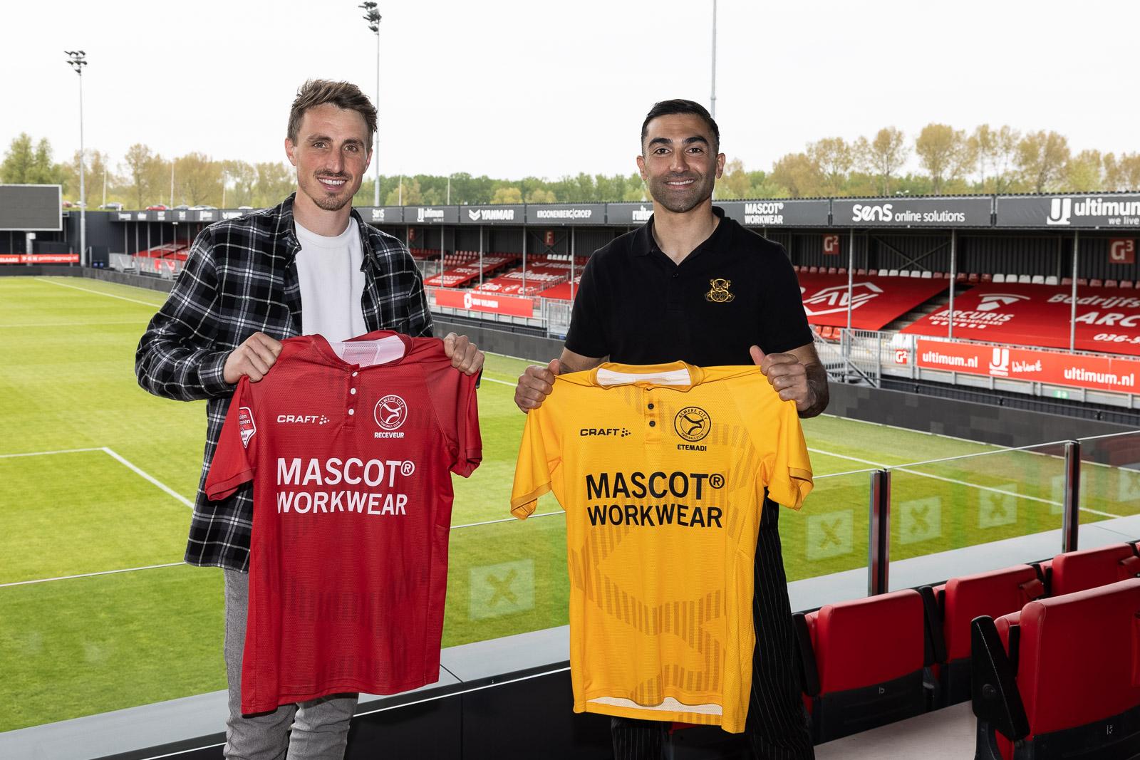 Clubiconen Receveur en Etemadi blijven Almere City FC trouw